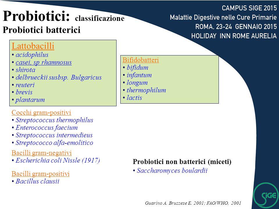 Lattobacilli acidophilus casei, sp rhamnosus shirota delbrueckii susbsp.