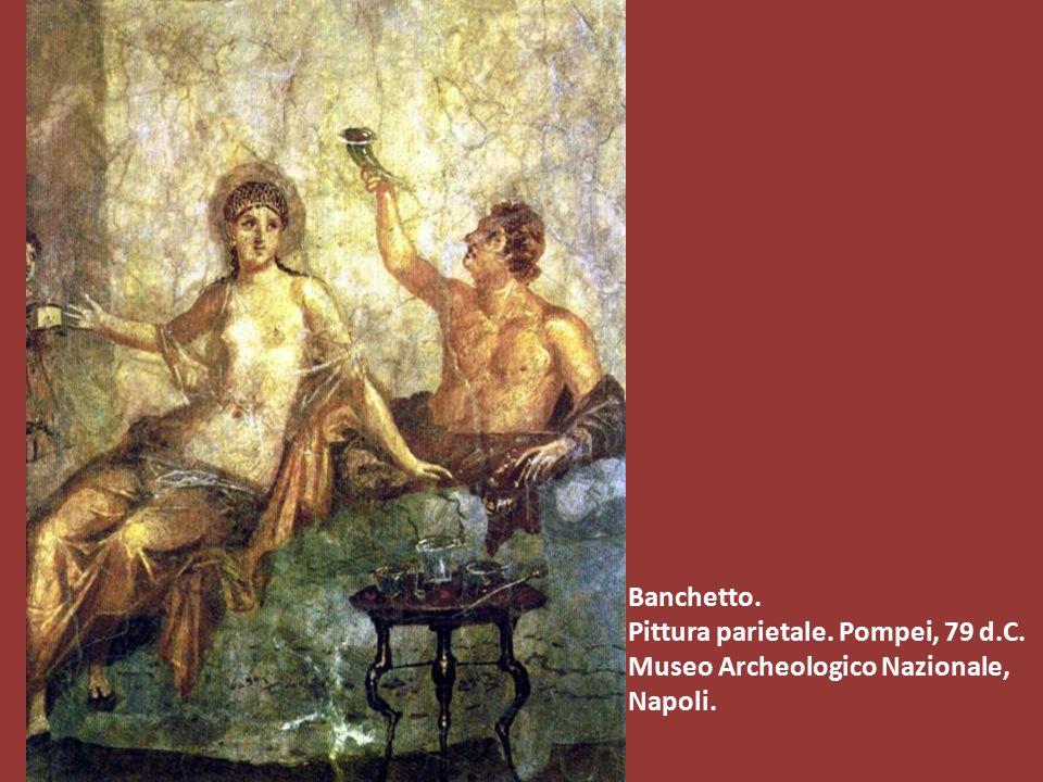Banchetto. Pittura parietale. Pompei, 79 d.C. Museo Archeologico Nazionale, Napoli.
