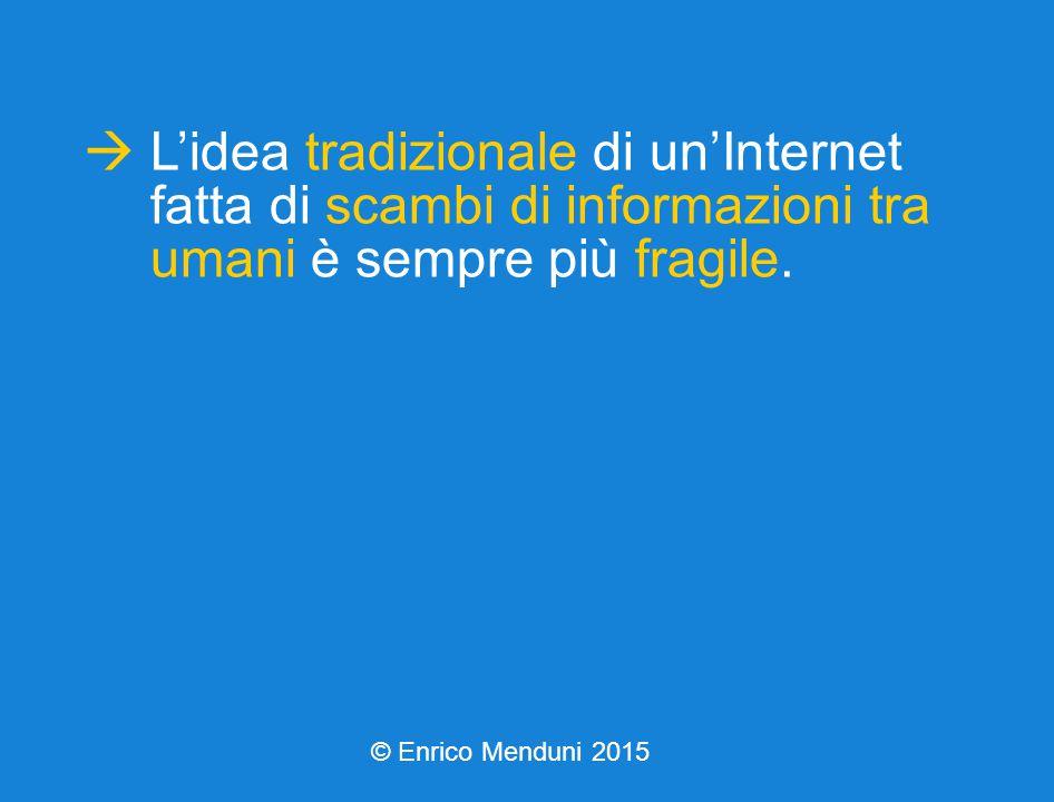  L'idea tradizionale di un'Internet fatta di scambi di informazioni tra umani è sempre più fragile.