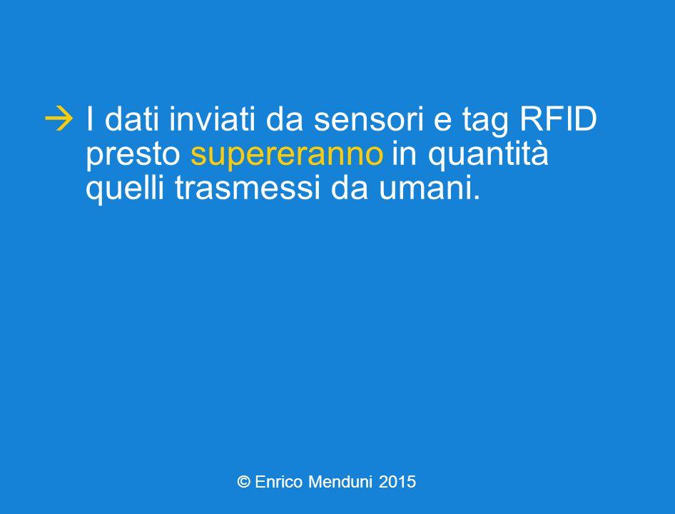  I dati inviati da sensori e tag RFID presto supereranno in quantità quelli trasmessi da umani.