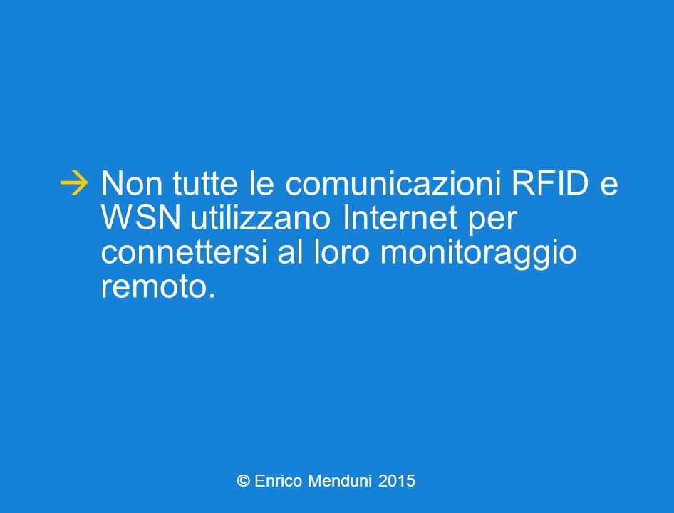  Non tutte le comunicazioni RFID e WSN utilizzano Internet per connettersi al loro monitoraggio remoto.