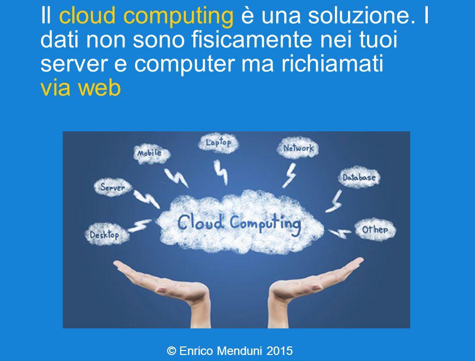 Il cloud computing è una soluzione.