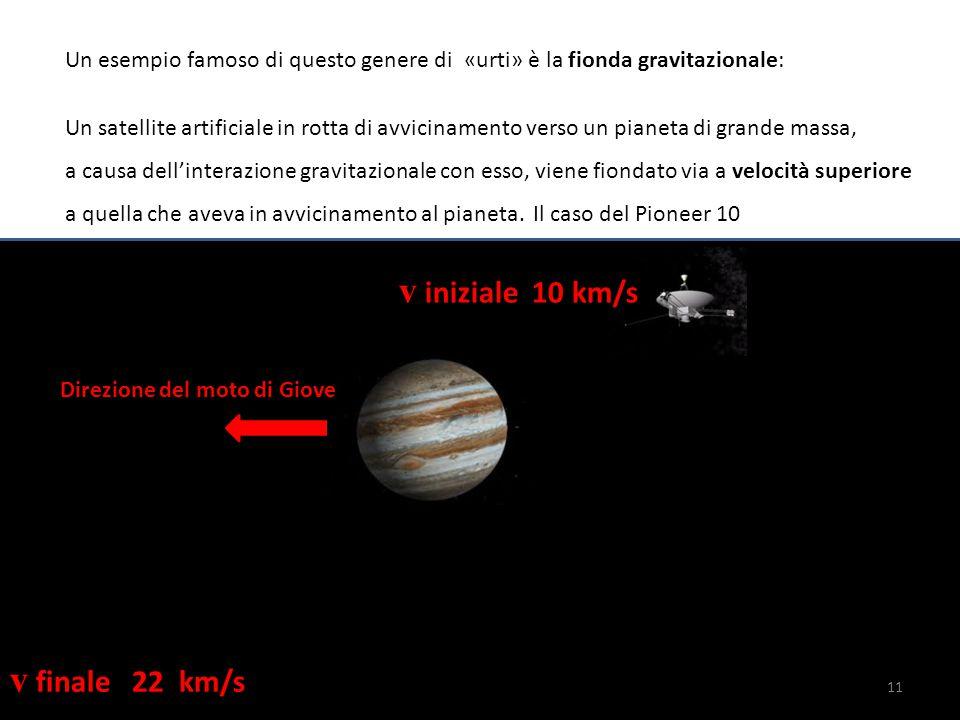 Un esempio famoso di questo genere di «urti» è la fionda gravitazionale: Un satellite artificiale in rotta di avvicinamento verso un pianeta di grande