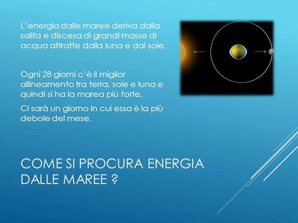 ENERGIA ELETTRICA DALLE MAREE
