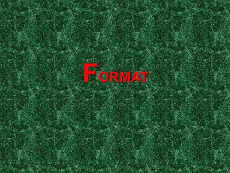 F ORMAT
