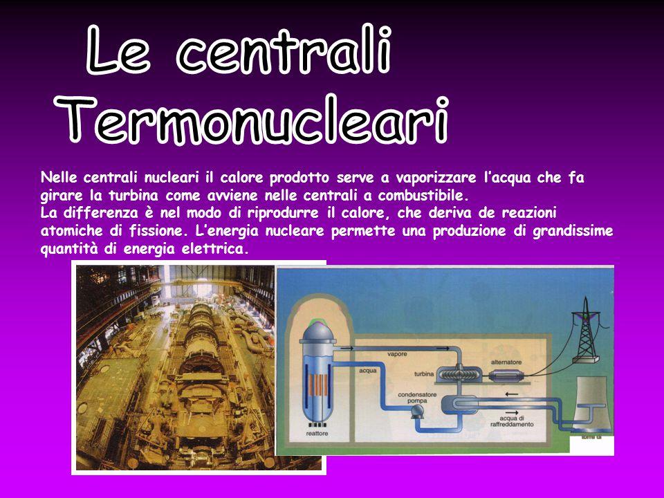 Nelle centrali nucleari il calore prodotto serve a vaporizzare l'acqua che fa girare la turbina come avviene nelle centrali a combustibile.