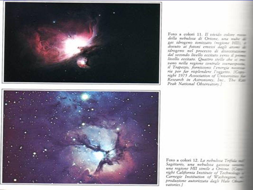 LE NEBULOSE  Rappresentano la materia interstellare presente all'interno delle galassie.  Sono formate da gas (soprattutto idrogeno ed elio) e da po