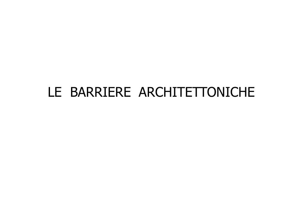 LE BARRIERE ARCHITETTONICHE