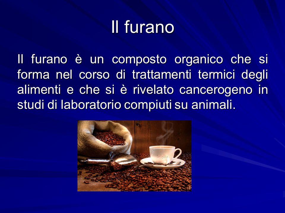 Il furano Il furano è un composto organico che si forma nel corso di trattamenti termici degli alimenti e che si è rivelato cancerogeno in studi di la