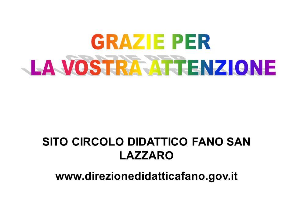 SITO CIRCOLO DIDATTICO FANO SAN LAZZARO www.direzionedidatticafano.gov.it