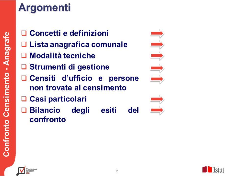 Testo Confronto Censimento - AnagrafeSGR SGR, Sistema di Gestione della Rilevazione, costituisce il supporto informatico alla conduzione della rilevazione.