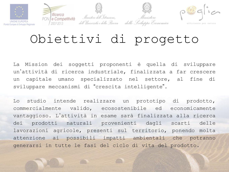 Obiettivi di progetto Lo studio intende realizzare un prototipo di prodotto, commercialmente valido, ecosostenibile ed economicamente vantaggioso. L'a