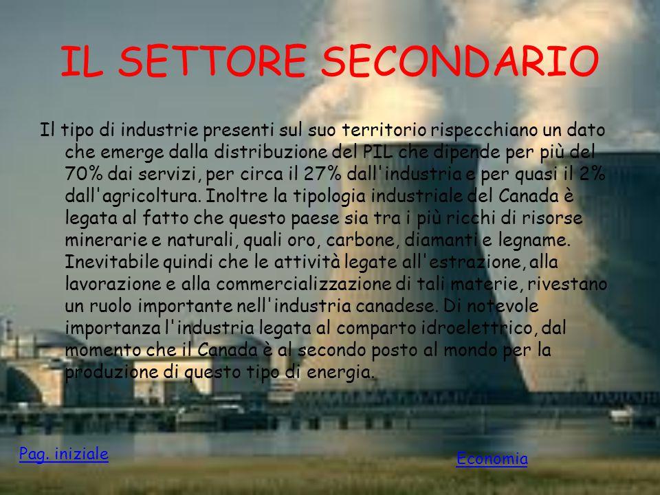 IL SETTORE SECONDARIO Il tipo di industrie presenti sul suo territorio rispecchiano un dato che emerge dalla distribuzione del PIL che dipende per più