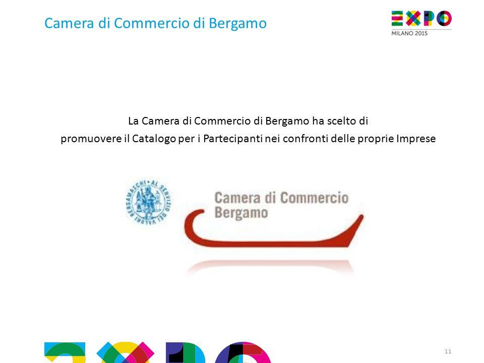 11 Camera di Commercio di Bergamo La Camera di Commercio di Bergamo ha scelto di promuovere il Catalogo per i Partecipanti nei confronti delle proprie Imprese