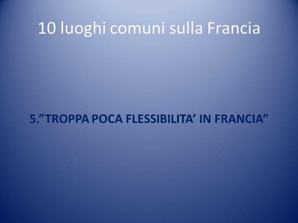 """10 luoghi comuni sulla Francia 5.""""TROPPA POCA FLESSIBILITA' IN FRANCIA"""""""