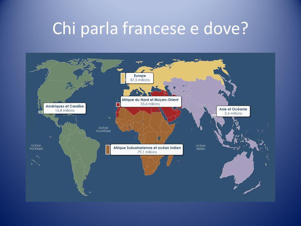 Chi parla francese e dove?