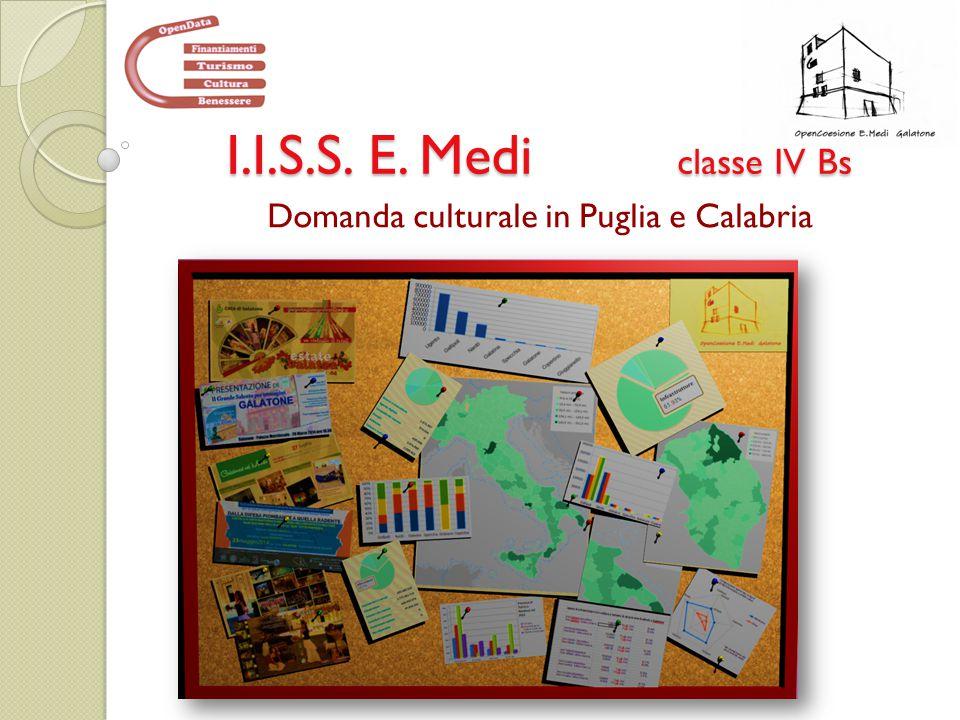 I.I.S.S. E. Medi classe IV Bs Domanda culturale in Puglia e Calabria