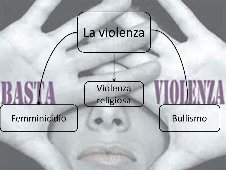 La violenza Bullismo Violenza religiosa Femminicidio