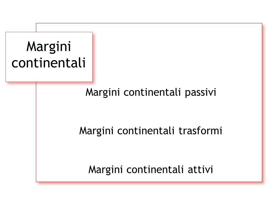 Margini continentali Margini continentali passivi Margini continentali trasformi Margini continentali attivi