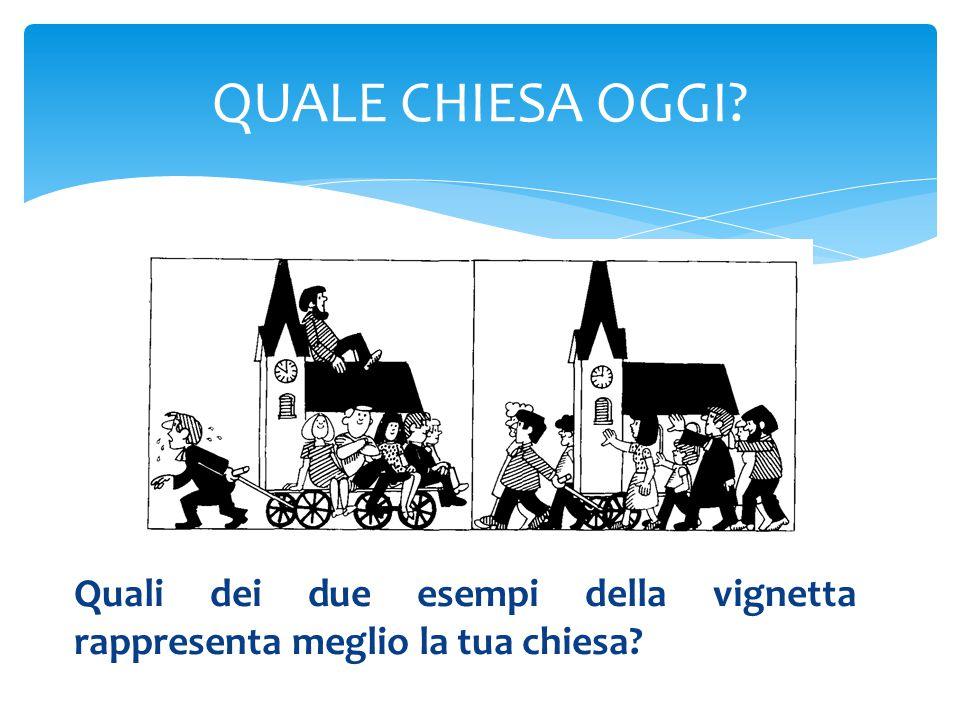 QUALE CHIESA OGGI Quali dei due esempi della vignetta rappresenta meglio la tua chiesa