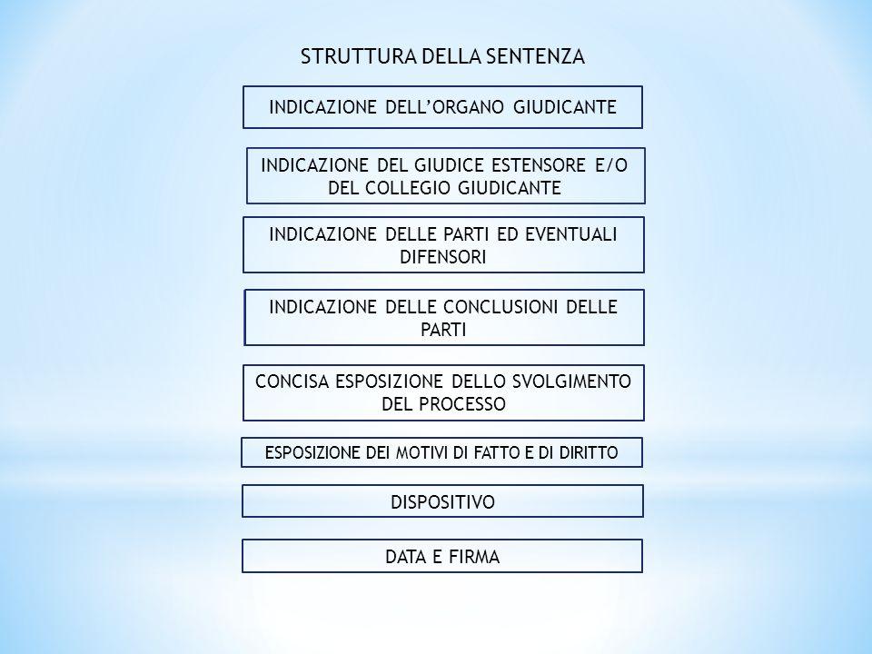 LE TIPOLOGIE DI SENTENZA  Sentenza emessa a seguito di trattazione orale (art.