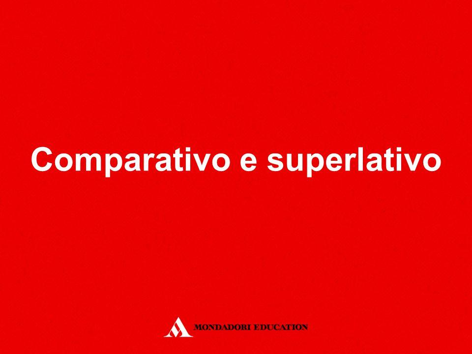 Definizione del comparativo Il comparativo è un grado dell'aggettivo o dell'avverbio che consente il paragone tra persone, cose, eventi.