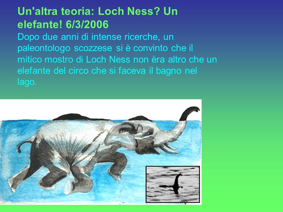 26 Maggio 2007 Risale a questa data,l ultimo avvistamento documentato che potrebbe ritrarre il famoso mostro di Loch Ness in Scozia da parte di Gordon Holmes, 55 anni.