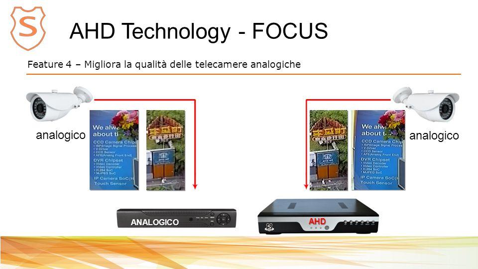 AHD Technology - FOCUS Feature 4 – Migliora la qualità delle telecamere analogiche AHD analogico ANALOGICO