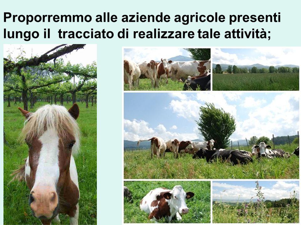 Proporremmo alle aziende agricole presenti lungo il tracciato di realizzare tale attività;