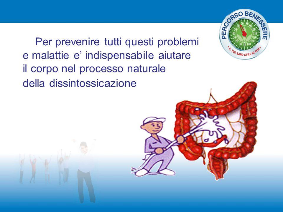 Per prevenire tutti questi problemi e malattie e' indispensabile aiutare il corpo nel processo naturale della dissintossicazione