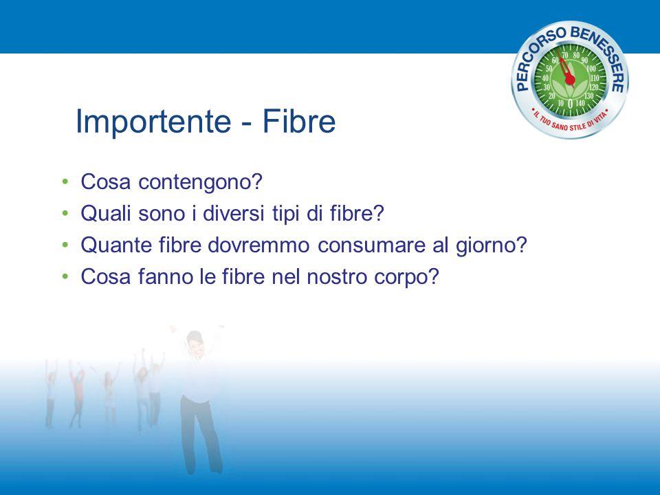 Importente - Fibre Cosa contengono? Quali sono i diversi tipi di fibre? Quante fibre dovremmo consumare al giorno? Cosa fanno le fibre nel nostro corp