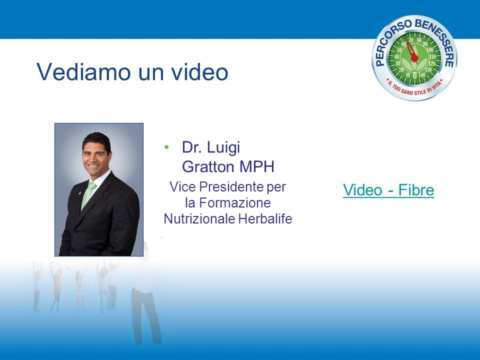 Vediamo un video Dr. Luigi Gratton MPH Vice Presidente per la Formazione Nutrizionale Herbalife Video - Fibre