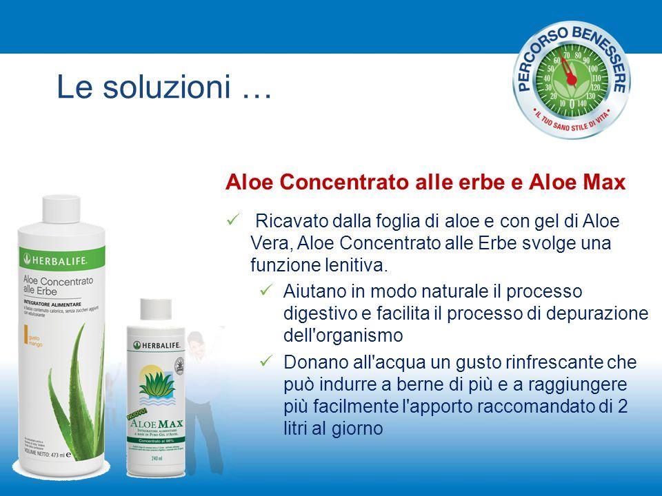 Aloe Concentrato alle erbe e Aloe Max Ricavato dalla foglia di aloe e con gel di Aloe Vera, Aloe Concentrato alle Erbe svolge una funzione lenitiva. A