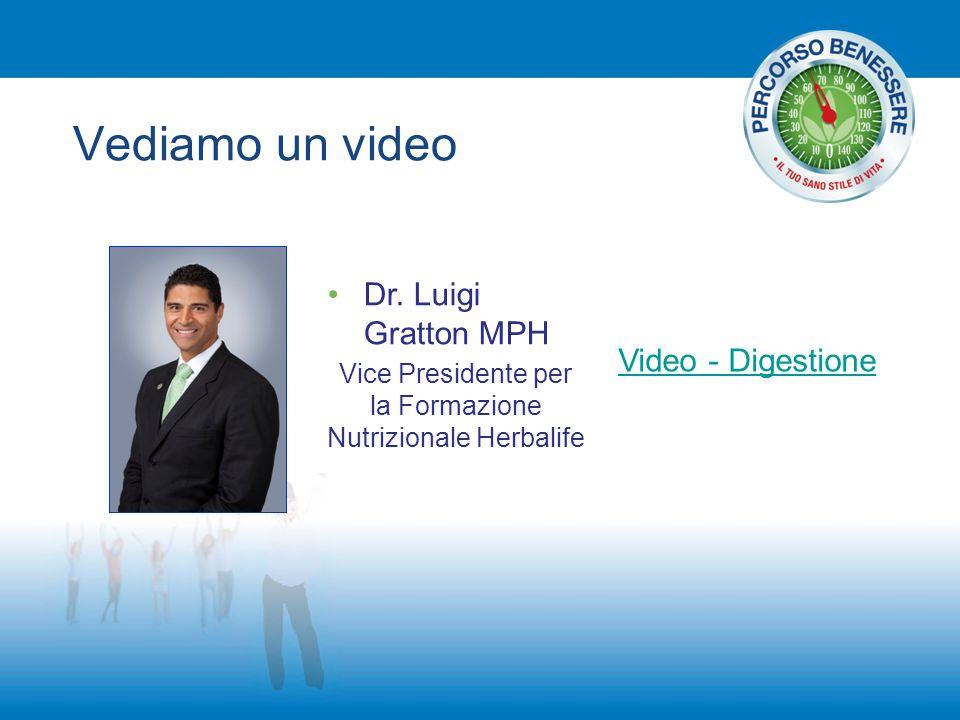 Vediamo un video Dr. Luigi Gratton MPH Vice Presidente per la Formazione Nutrizionale Herbalife Video - Digestione