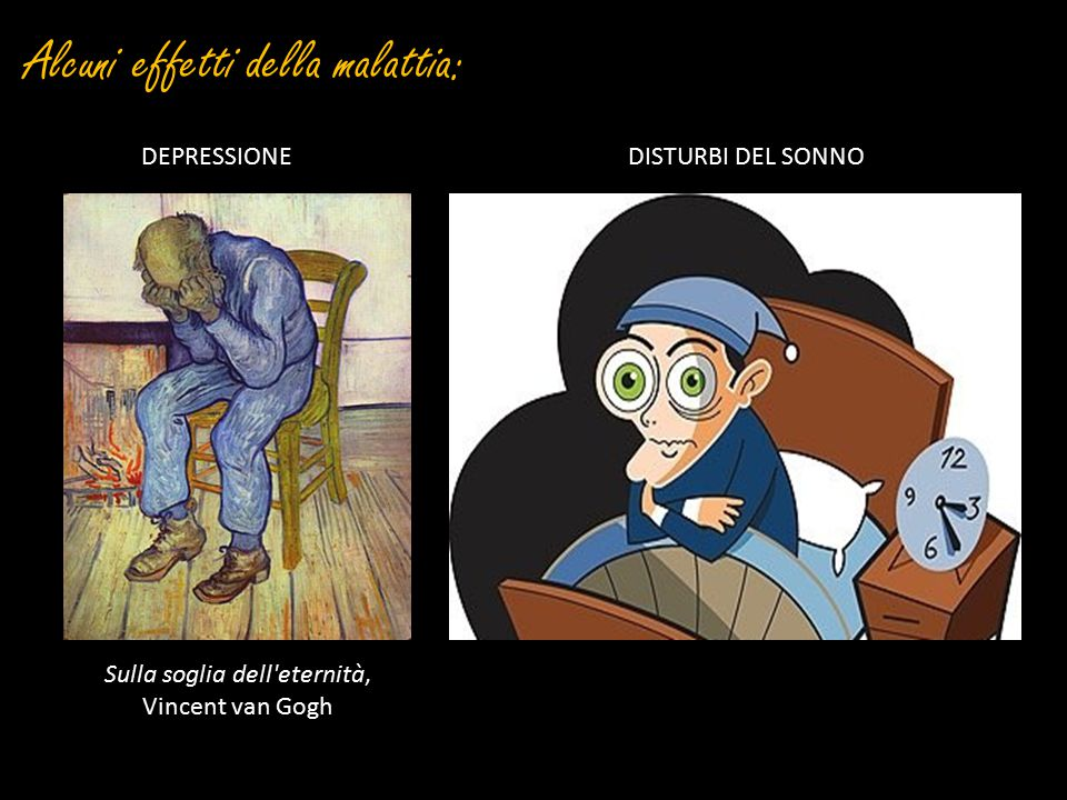 Alcuni effetti della malattia: Sulla soglia dell'eternità, Vincent van Gogh DEPRESSIONEDISTURBI DEL SONNO