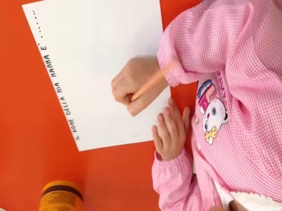 Scrivi il suo nome vicino a lei (L'insegnante prepara un cartoncino con il nome corrispondente scritto a stampatello )