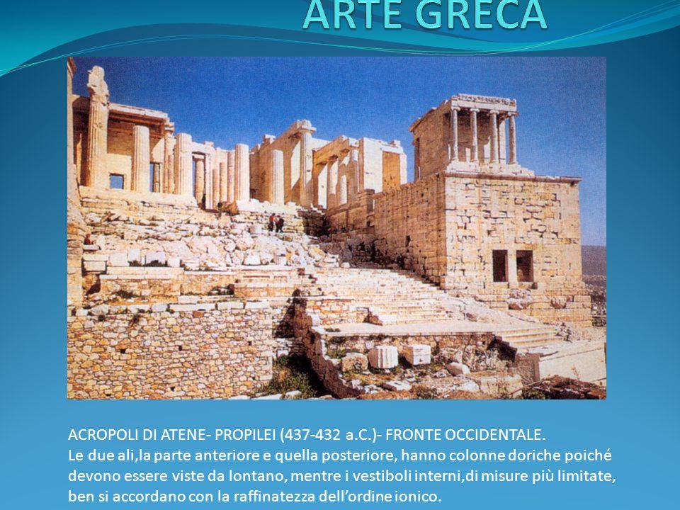 ACROPOLI DI ATENE- PROPILEI (437-432 a.C.)- FRONTE OCCIDENTALE.