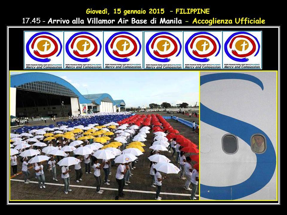 9.00 - Partenza in aereo da Colombo (SRI LANKA), per Manila (FILIPPINE).