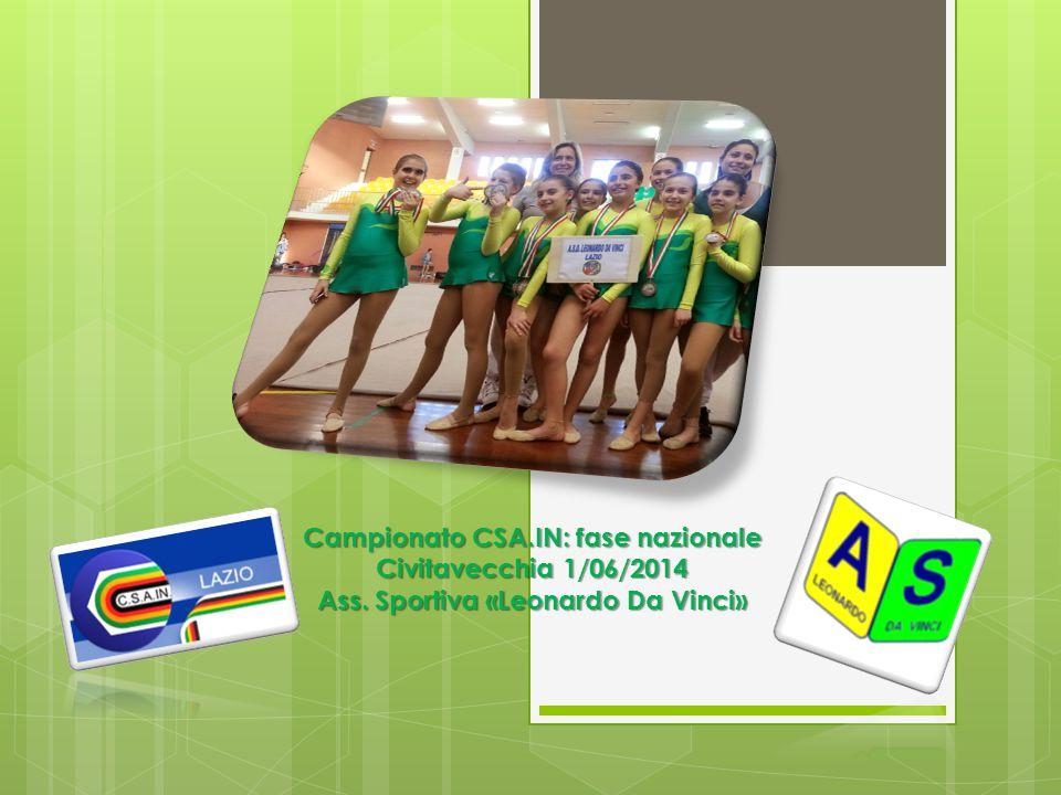 Campionato CSA.IN: fase nazionale Civitavecchia 1/06/2014 Ass. Sportiva «Leonardo Da Vinci»