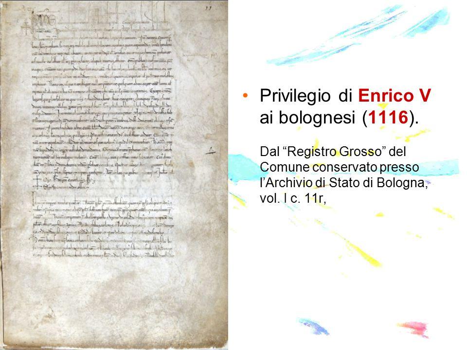 Privilegio di Enrico V ai bolognesi (1116).