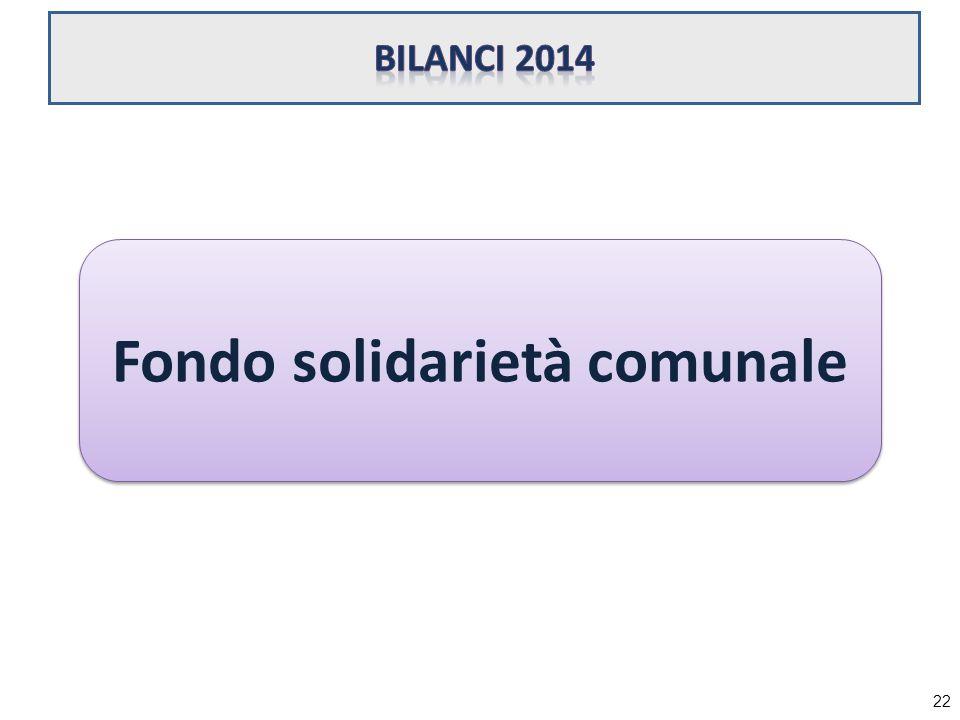 Fondo solidarietà comunale 22