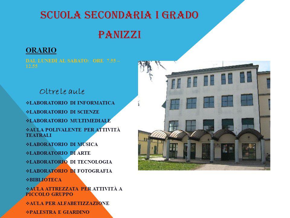 SCUOLA SECONDARIA I GRADO PANIZZI SCUOLA SECONDARIA DI PRIMO GRADO A.PANIZZI – BRESCELLO – Via A.