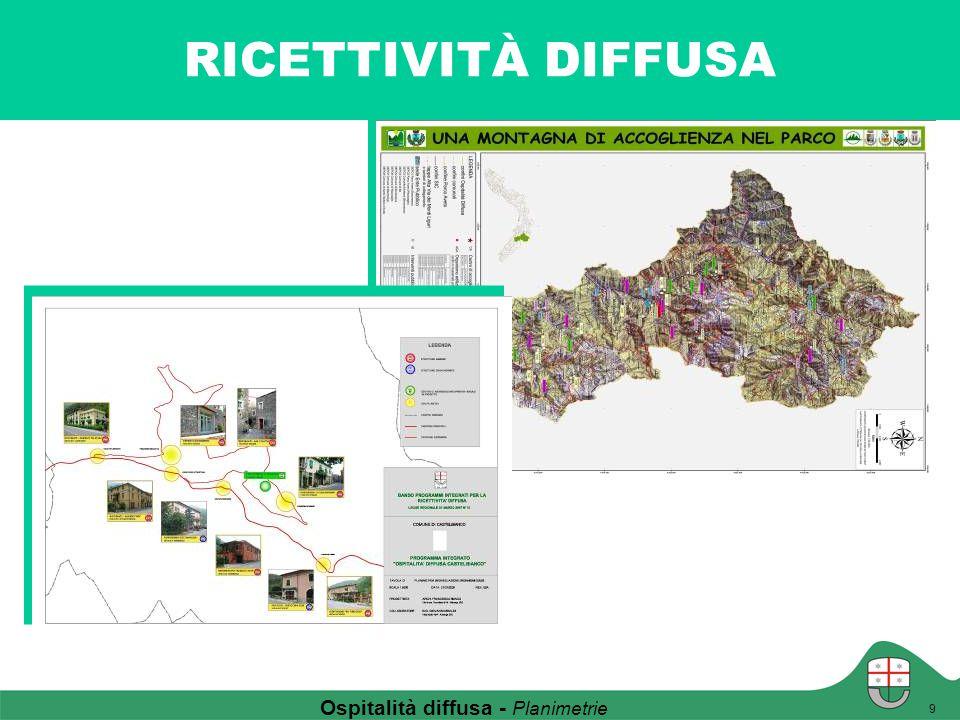 RICETTIVITÀ DIFFUSA 9 Ospitalità diffusa - Planimetrie
