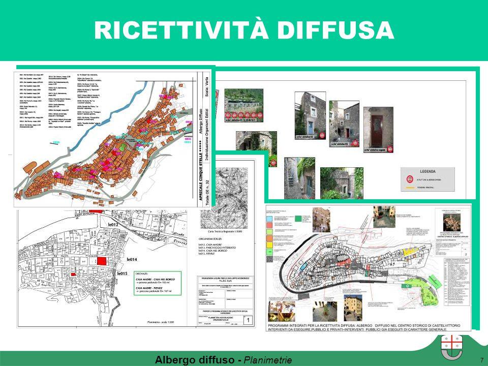 RICETTIVITÀ DIFFUSA 7 Albergo diffuso - Planimetrie