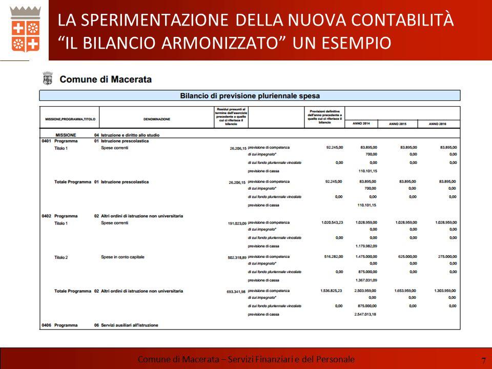 COMUNE DI MACERATA BILANCIO DI PREVISIONE 2014-2016
