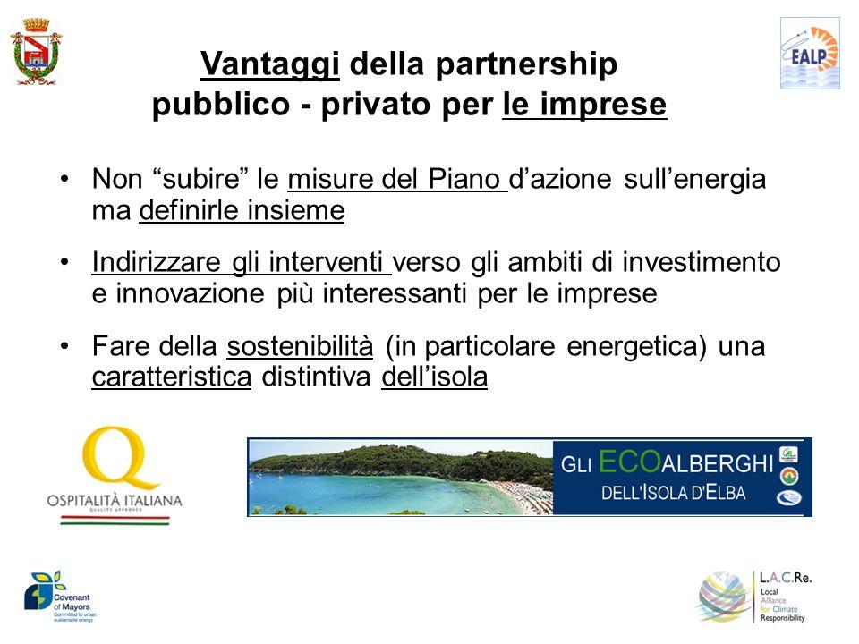 Non subire le misure del Piano d'azione sull'energia ma definirle insieme Indirizzare gli interventi verso gli ambiti di investimento e innovazione più interessanti per le imprese Fare della sostenibilità (in particolare energetica) una caratteristica distintiva dell'isola 10 Vantaggi della partnership pubblico - privato per le imprese