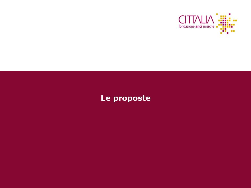 14 Le proposte