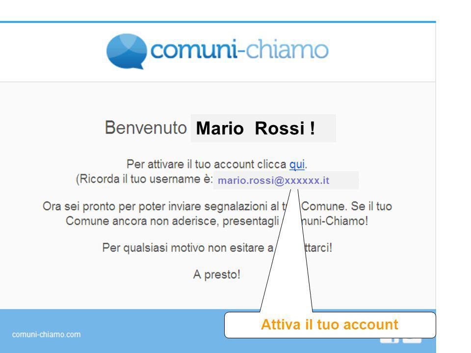Mario Rossi ! Attiva il tuo account mario.rossi@xxxxxx.it