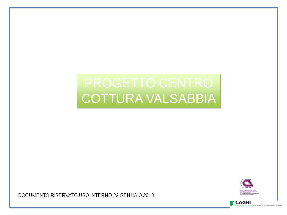 PROGETTO CENTRO COTTURA VALSABBIA DOCUMENTO RISERVATO USO INTERNO 22 GENNAIO 2013