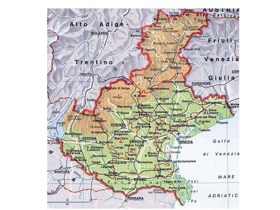 Veneto – Popolazione esposta al rischio di frane Fonte: ISPRA